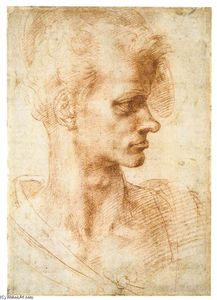 Michelangelo Buonarroti - Bust of a Young Man (recto)