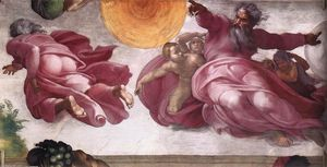 Michelangelo Buonarroti - Creation of the Sun, Moon, and Plants