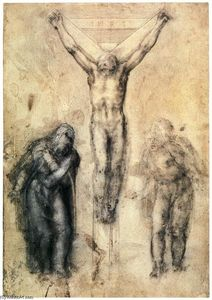 Michelangelo Buonarroti - Crucified Christ with Mary and John