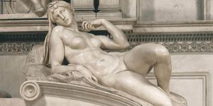 Michelangelo Buonarroti - Dawn (detail)