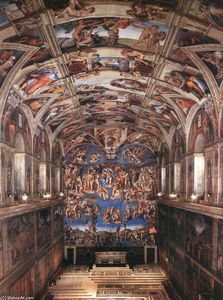 Michelangelo Buonarroti - Interior of the Sistine Chapel