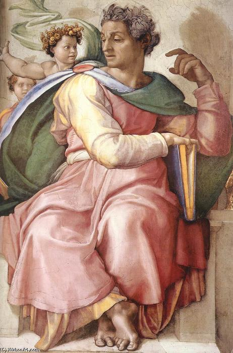 Isaiah (detail), 1509 by Michelangelo Buonarroti (1475-1564, Italy) | Famous Paintings Reproductions | WahooArt.com