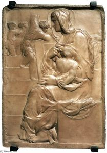 Michelangelo Buonarroti - Madonna of the Stairs