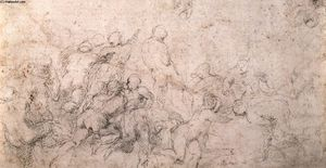 Michelangelo Buonarroti - Study for the Battle of Cascina