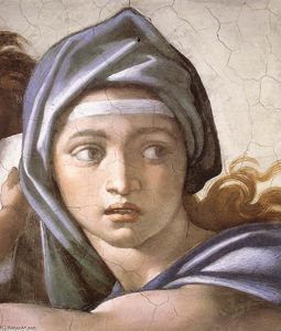 Michelangelo Buonarroti - The Delphic Sibyl (detail)