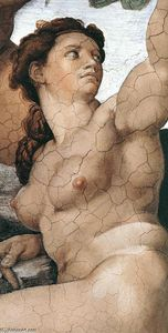 Michelangelo Buonarroti - The Fall and Expulsion from Garden of Eden (detail)