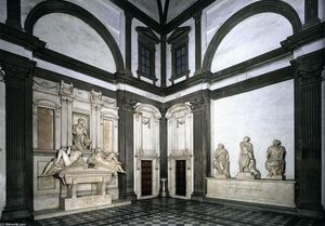 Michelangelo Buonarroti - View of the Medici Chapel