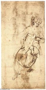 Michelangelo Buonarroti - Virgin and Child (verso)