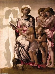 Michelangelo Buonarroti - Virgin and Child with St John and Angels