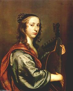 Johannes Mytens - Lady Playing the Lute
