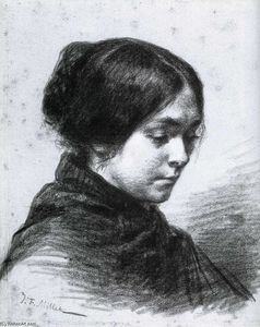 Order Art Reproductions | Catherine Lemaire, 1848 by Jean-François Millet (1814-1875, France) | WahooArt.com