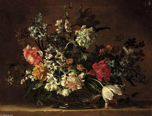 Jean Baptiste Monnoyer - Still-Life of Flowers