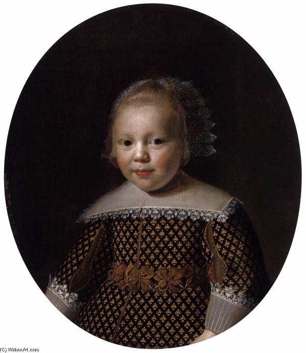 Portrait of a Young Boy, Oil by Paulus Moreelse  (order Fine Art Print on canvas Paulus Moreelse)