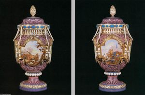 Jean Louis Morin - Pair of ''Antique Ferrés'' Vases