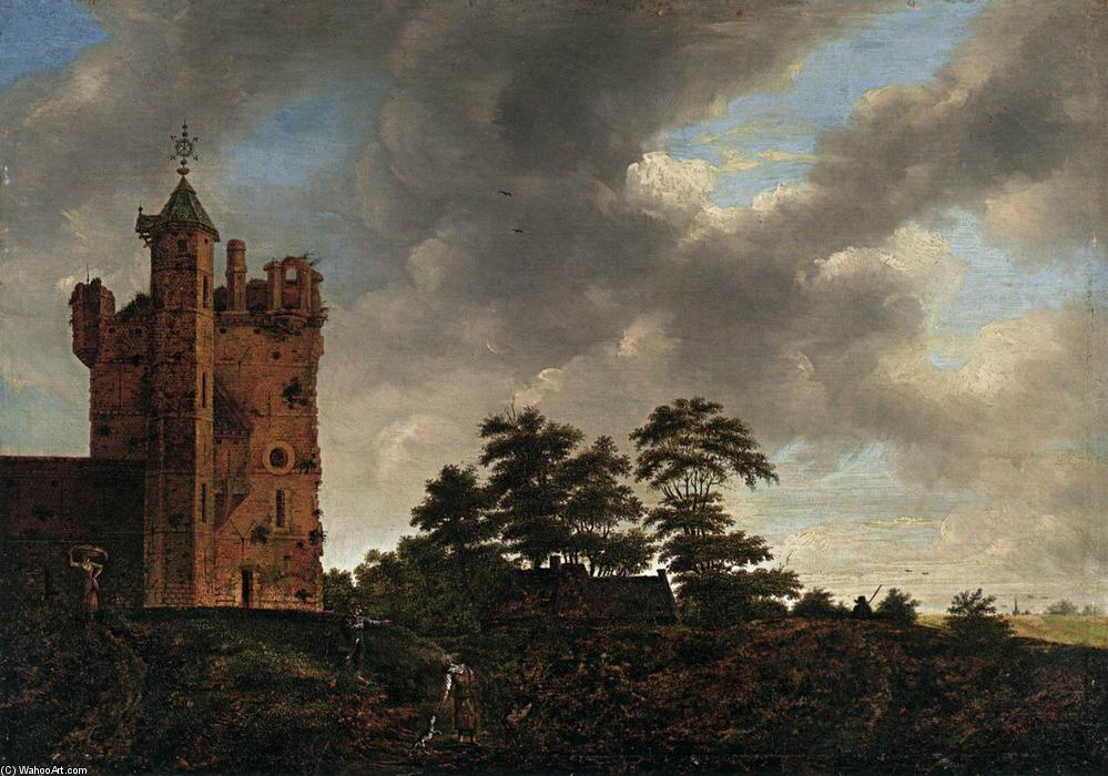 Order Paintings Reproductions | The Old Castle, 1670 by Emanuel Murant (1622-1700, Netherlands) | WahooArt.com
