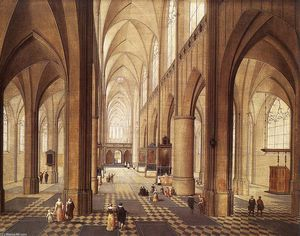 Pieter Neefs The Elder - Interior of a Church