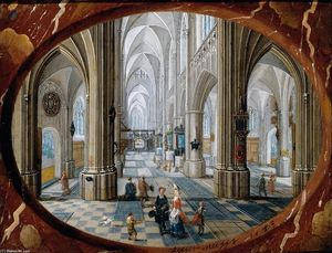 Peeter The Younger Neeffs - Interior of a Gothic Church