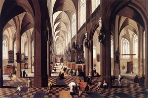 Peeter Neeffs The Younger - Interior of Antwerp Cathedral