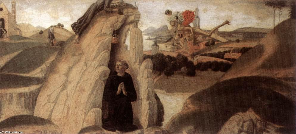 Three Episodes from the Life of St Benedict, Panel by Neroccio De Landi (1447-1500, Italy)
