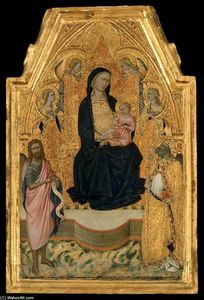 Niccolò Di Buonaccorso - Virgin and Child Enthroned with Saints