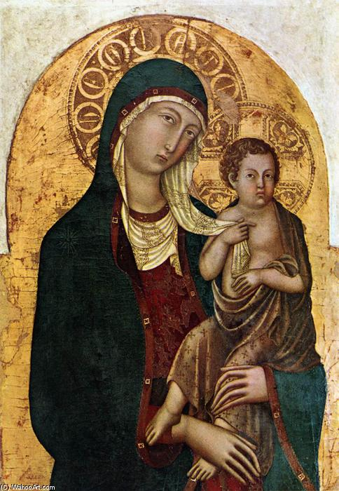 Virgin with Child, Panel by Niccolò Di Segna