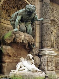Auguste-Louis-Marie Jenks Ottin - Polyphemus Surprising Acis and Galatea