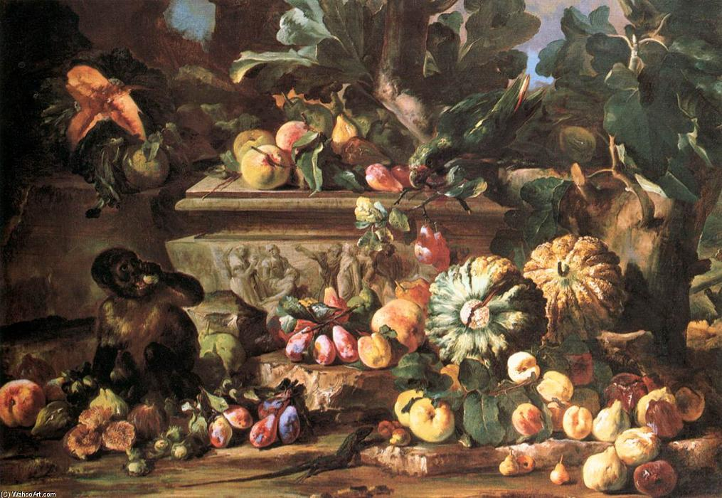 Order Museum Quality Copies | Still-Life by Michele Pace Del Campidoglio (1610-1670, Italy) | WahooArt.com
