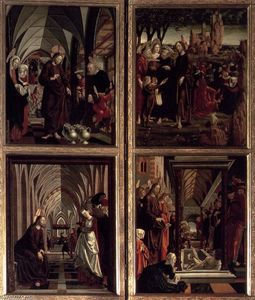 Michael Pacher - St Wolfgang Altarpiece: Scenes from the Life of Christ
