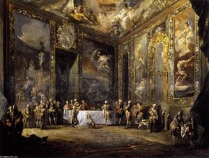 Luis Paret Y Alcázar - Charles III Dining before the Court