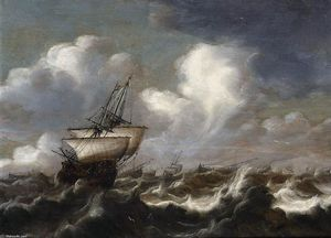 Bonaventura Peeters I - Shipping at Sea in a Light Breeze