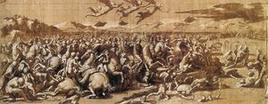Giovan Francesco Penni - The Battle at Pons Milvius