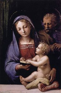 The Holy Family of the Book, Tempera by Giovan Francesco Penni  (buy Fine Art Art reproduction Giovan Francesco Penni)