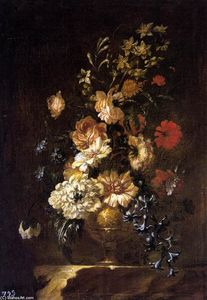 Francisco Pérez Sierra - Vase of Flowers