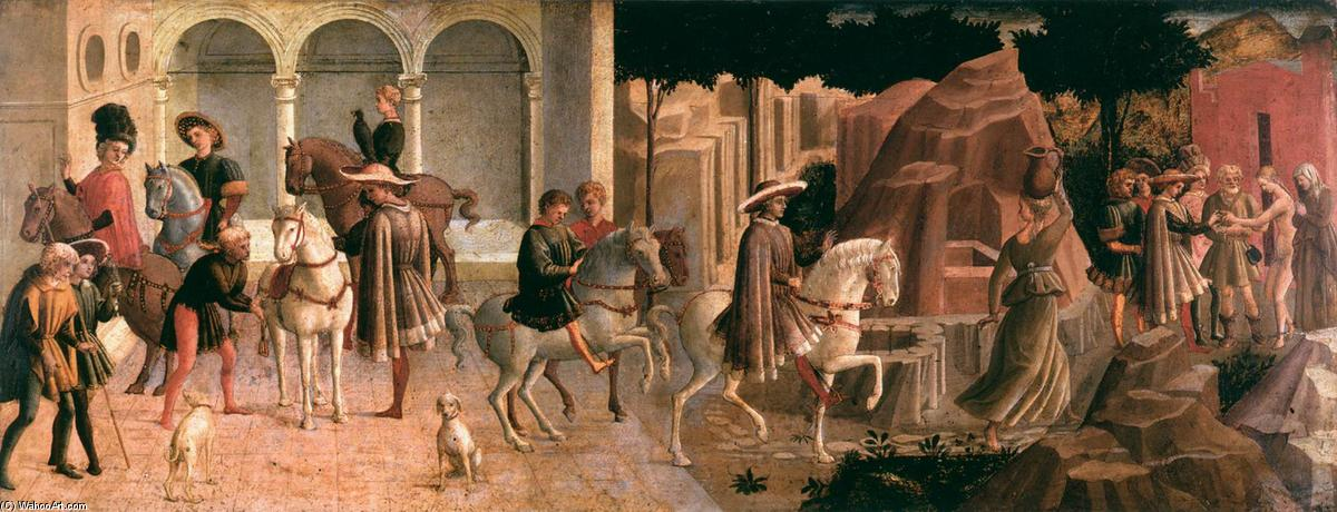 Episode from the Story of Griselda, 1445 by Francesco Di Stefano Pesellino (1422-1457) | Famous Paintings Reproductions | WahooArt.com