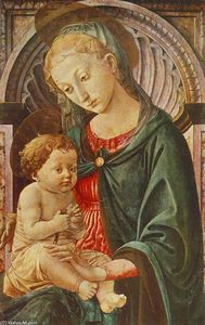 Order Museum Quality Copies | Madonna with Child, 1450 by Francesco Di Stefano Pesellino (1422-1457) | WahooArt.com