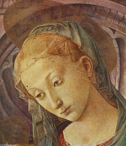 Francesco Di Stefano Pesellino - Madonna with Child (detail)