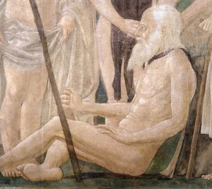 Piero Della Francesca - 1. Death of Adam (detail)