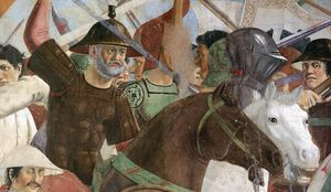 Piero Della Francesca - 8. Battle between Heraclius and Chosroes (detail)