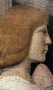Piero Della Francesca - Madonna and Child Attended by Angels (detail)