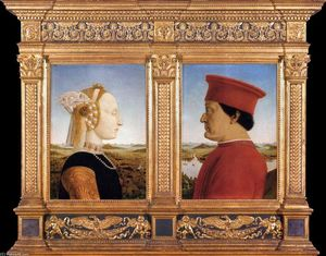 Piero Della Francesca - Portraits of Federico da Montefeltro and His Wife Battista Sforza
