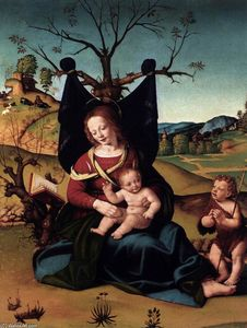 Piero Di Cosimo (Piero Di Lorenzo) - Madonna with Child and the Young St John