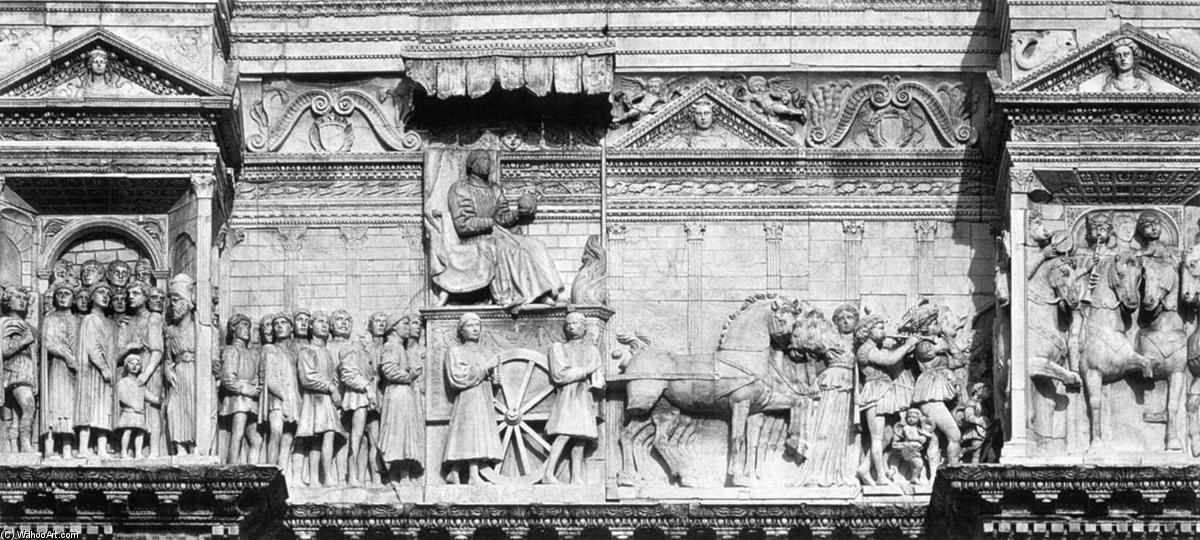Alfonso of Aragon in Triumph with his Court, Marble by Pietro Da Milano (1410-1473, Italy)