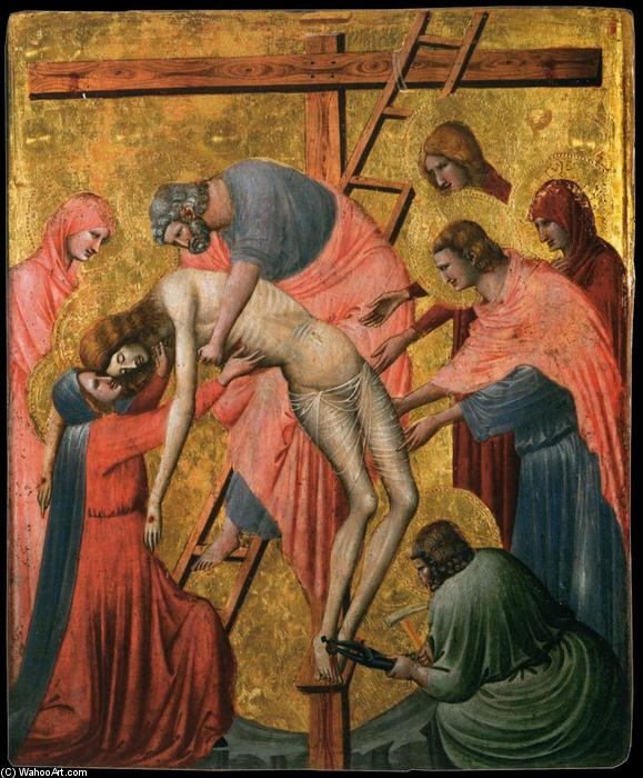 Deposition from the Cross, Panel by Pietro Da Rimini (1280-1350, Italy)
