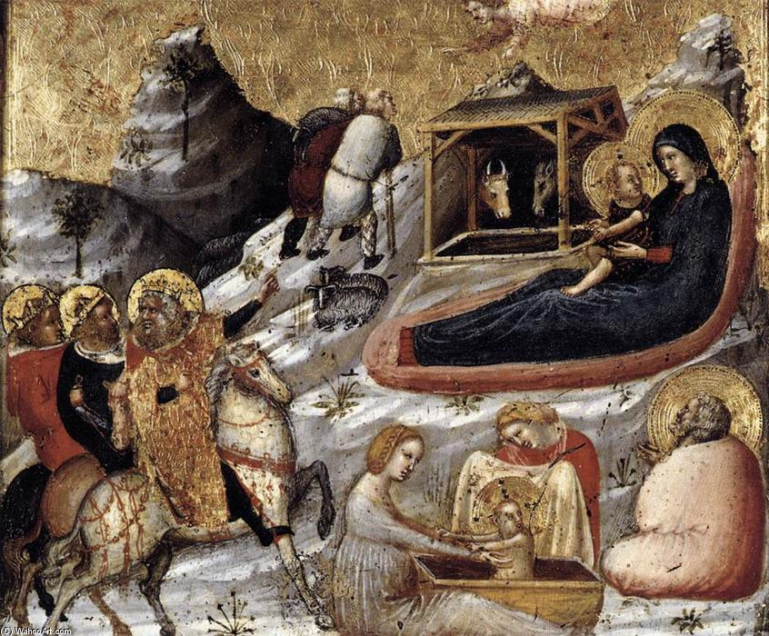 The Nativity and Other Episodes from the Childhood of Christ, Tempera by Pietro Da Rimini