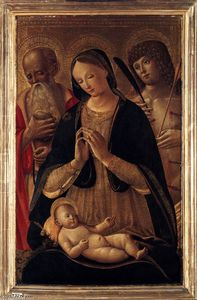 Pietro Di Domenico Da Siena - Madonna and Child with Sts Sebastian and Jerome