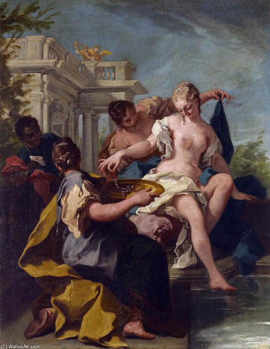 David and Bathsheba by Giovanni Battista Pittoni (2007-1770, Italy) | Museum Quality Reproductions | WahooArt.com
