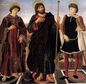 Antonio Del Pollaiuolo - Altarpiece of the Sts Vincent, James, and Eustace