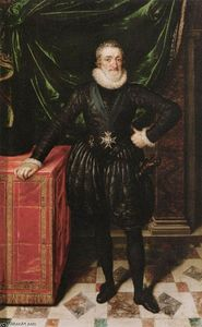 Frans The Younger Pourbus - Henry IV, King of France in Black Dress