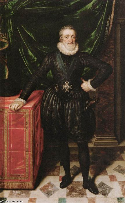 Buy Museum Art Reproductions | Henry IV, King of France in Black Dress, 1610 by Frans The Younger Pourbus (1569-1622, Belgium) | WahooArt.com