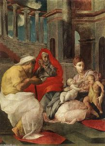 Francesco Primaticcio - The Holy Family with Sts Elisabeth and John the Baptist